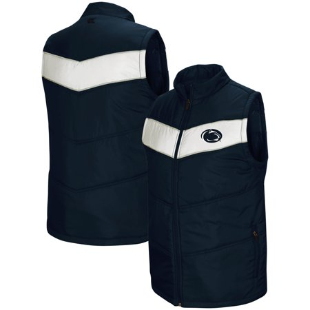 Penn State Nittany Lions Colosseum Red Beaulieu Puff Full-Zip Vest - Navy