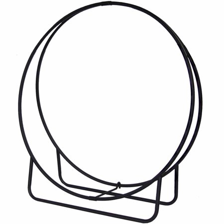 Outdoor Log Hoop (Pleasant Hearth Log Hoop, Black)