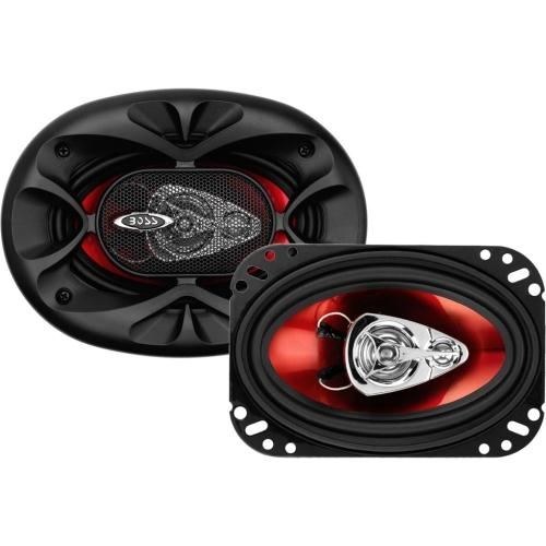 "Boss CH4630 Full Range - 250 W RMS - 500 W PMPO - 3-way - 2 Pack - 4 Ohm - 90 dB Sensitivity - 4"" x 6"" - Automobile"