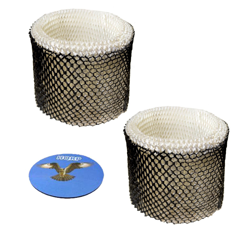HQRP 2-pack Wick Filter for Sunbeam SCM1745 SCM1746 SCM1747 Cool Mist Humidifier, SWF64CS SWF64 SWF-64 Type E Replacement + HQRP Coaster