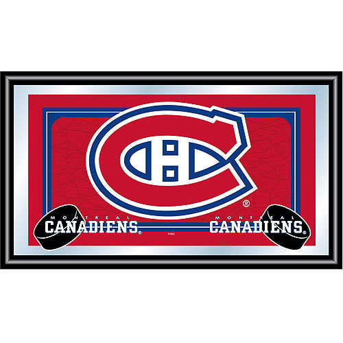 Trademark NHL1525-MC Framed Mirror With Officially Licensed NHL Team Logo, Montreal Canadiens