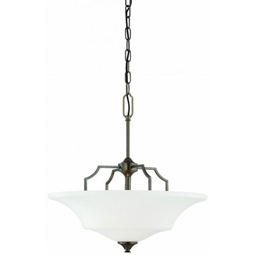 Thomas Lighting SL892515 Chiave 2 Light Pendant In Oiled Bronze Finish by Thomas Lighting