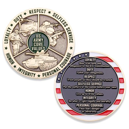 Army Core Values Challenge Coins United States Army