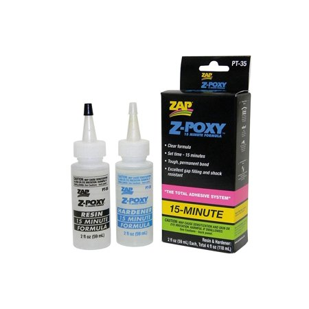 Pacer PT35 Z-Poxy 15 Minute Epoxy Glue by Adhesives, Z-Poxy is specially formulated to bond to fiberglass, wood, metals, and plastics By