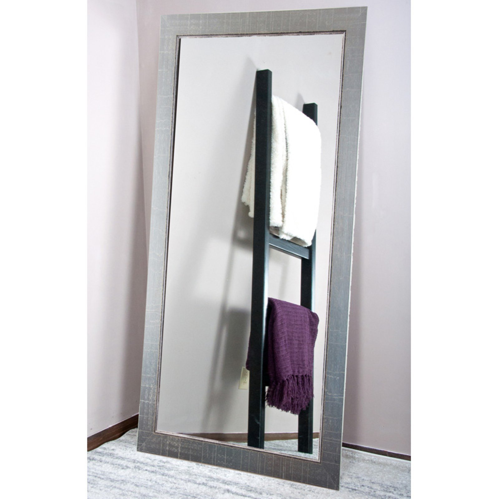 BrandtWorks Silver Vintage Tall Vanity Floor Mirror 31.5W x 65H in. by Brandt Works LLC