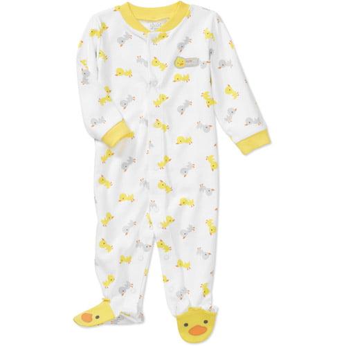 Child of Mine by Carters Newborn Baby Duck Print Sleep n Play Jumpsuit