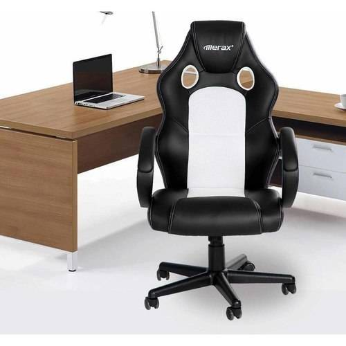 Merax Ergonomic High-Back Mesh and PU Leather Racing Style Executive Office Chair