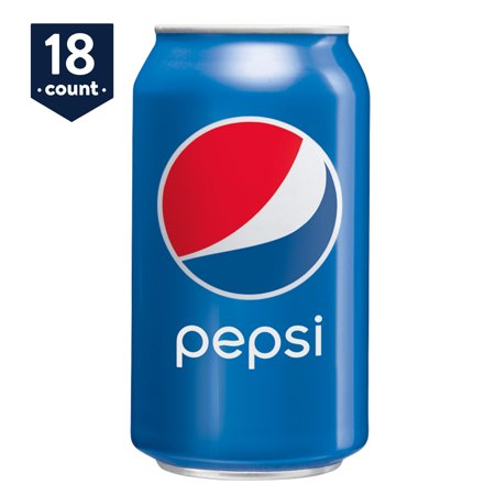 Pepsi Soda, 12 oz Cans, 18 Count ()