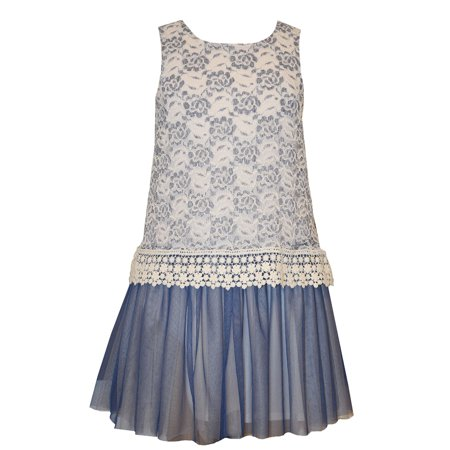 Bonnie Jean Tween Girls Lace and Venise Trim Dress 12