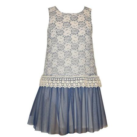 Bonnie Jean Tween Girls Lace and Venise Trim Dress 12](Tween Dresses Size 14)