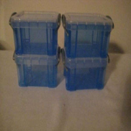 Really Useful Boxes 0.14 Liters Trans-Color Blue (4