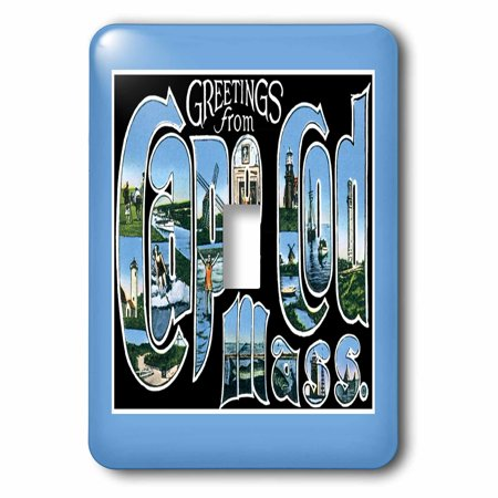 3dRose Greetings From Cape Cod Mass Scenic Postcard Reproduction, 2 Plug Outlet Cover (Cape Cod Outlets)
