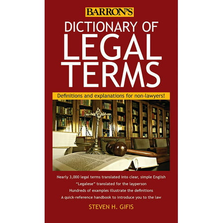 Dictionary of Legal Terms : Definitions and Explanations for Non-Lawyers](Explanation Of Halloween 6)