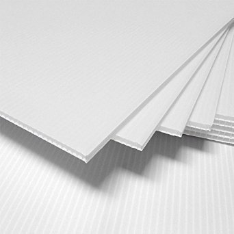 2 pack- Corrugated Plastic 24x48 4mm White