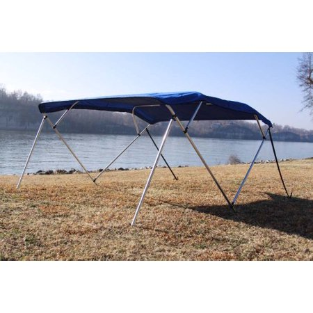 New Royal Blue Vortex Pontoon / Deck Boat 4 Bow Bimini Top 8