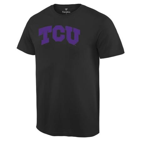 TCU Horned Frogs Basic Arch T-Shirt - Black - Tcu Apparel
