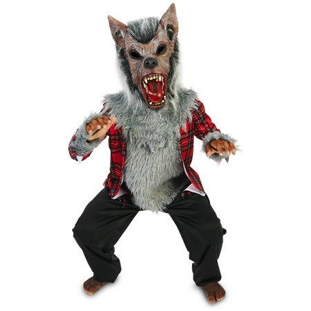 Full Moon Howl Werewolf Child Halloween Costume - Full Body Suit Halloween