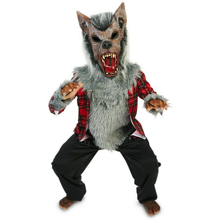 Full Moon Howl Werewolf Child Halloween Costume - Werewolf Face Paint Halloween