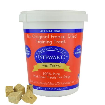 Treats Pork Liver (Stewart Freeze Dried Pork Liver Dog Treats by Pro-Treat, 4 oz.)