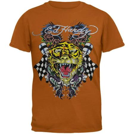 Ed Hardy - Tiger and Dragon Roar Tan Youth (Ed Hardy Dragon T-shirt)