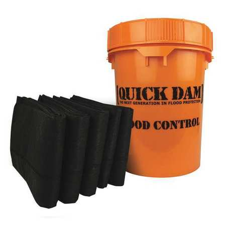 Quick Dam Grab & Go Flood Kit includes 5 - 10ft Flood Barriers in Bucket