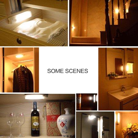Détection Mouvement PIR Batterie Rechargeable 10 LED Lumière Penderie Cabinet des escaliers - image 7 de 8