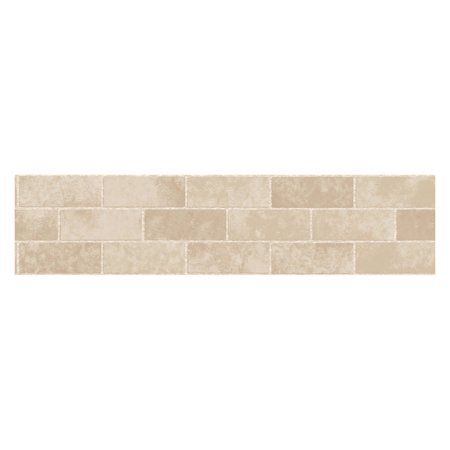 Fun4walls stone tile peel and stick wall border set of 2 for Peel and stick wallpaper walmart