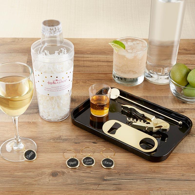 Kate Aspen 27005NA Glass Coaster Gift Set Love