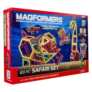 Magformers Safari 83-Piece Magnetic Construction Set