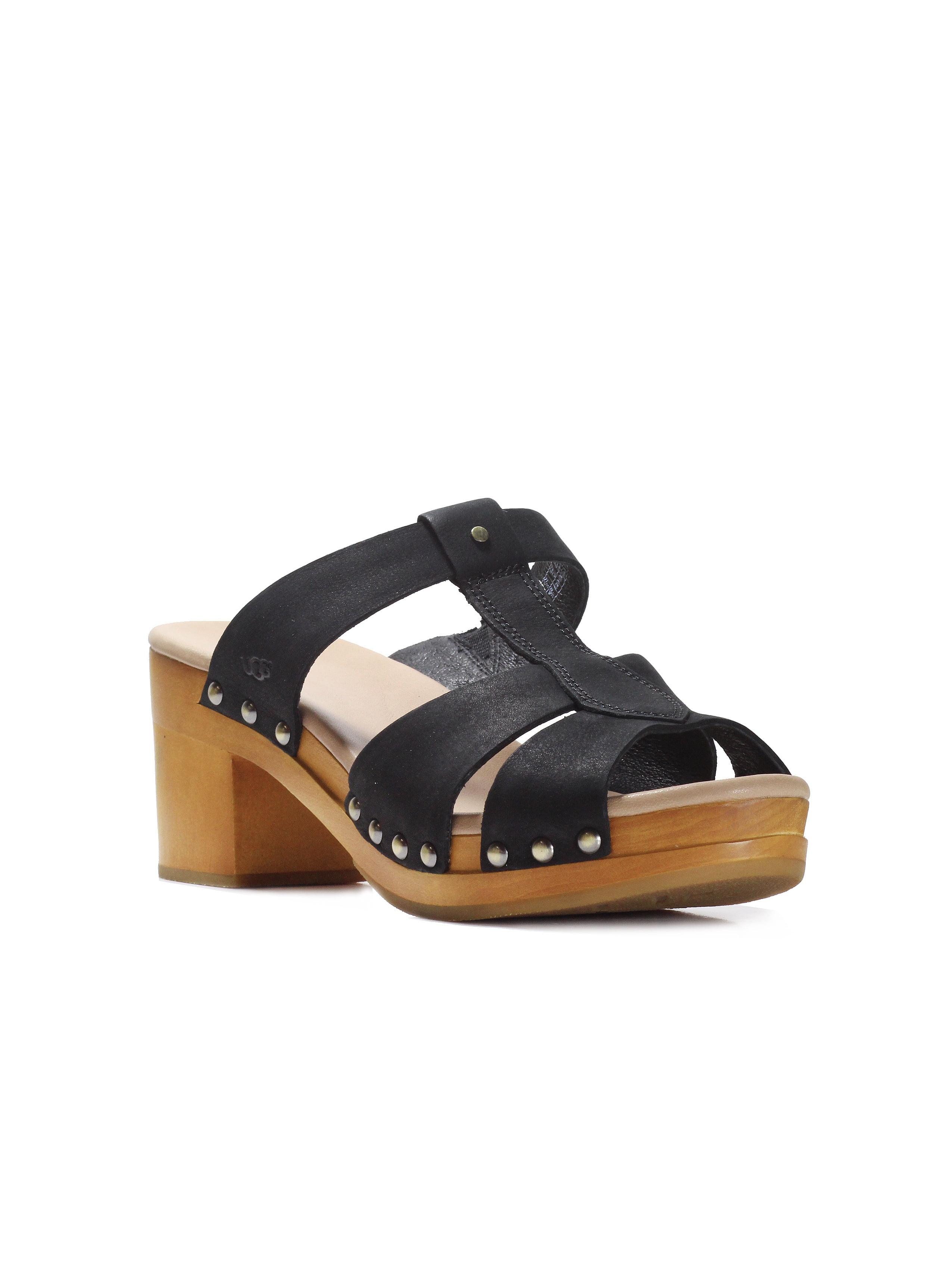 6b453778e5a UGG Women's Jennie Black Nubuck Sandal 9