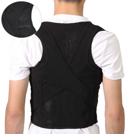 M/XL/XXXL Mesh Breathable Adjustable Back Support Posture Corrector Straightener Brace Shoulder Back Waist lumbar Band Belt Pain Relief For Child Teenager Cool Mesh Back Support