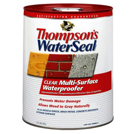 ThompsonsWaterseal 5 Gallon Clear WaterSeal  Multi-Surface Waterproofer 24105