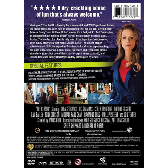 The Closer: The Complete Sixth Season (DVD)
