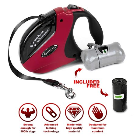 WINSEE Retractable Dog Leash,16ft Dog Walking Leash for Large Medium Small Dog Up to 110lbs, Reflective Ribbon Cord, Break & Lock System](Dig Corp)