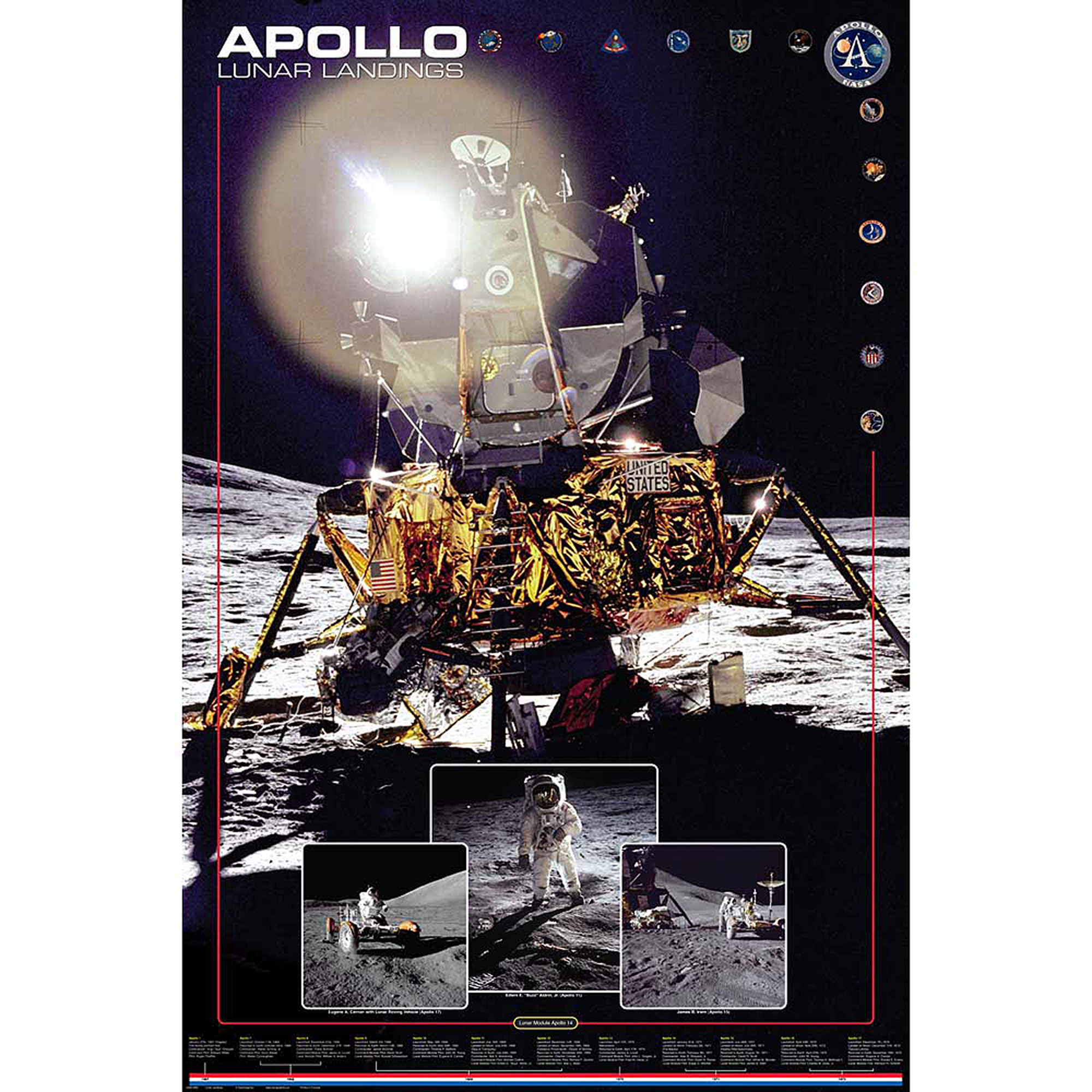 Apollo Lunar Landings Photography Art