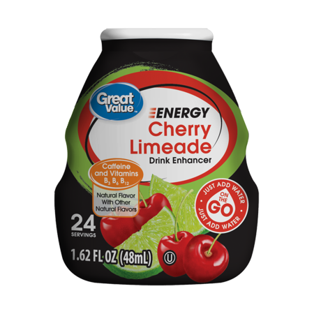 Great Value Energy Drink Enhancer  Cherry Limeade  1 62 Fl Oz