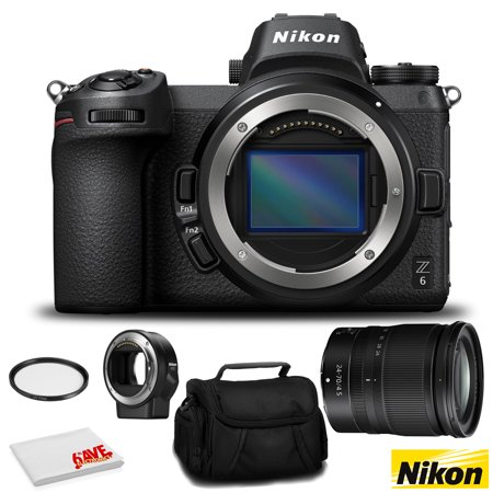 Nikon Z 6 Mirrorless FX-Format Digital Camera with 24-70mm Lens and FTZ Mount Adapter Kit - Bundle with 72mm UV Filter and MORE - Intl Version
