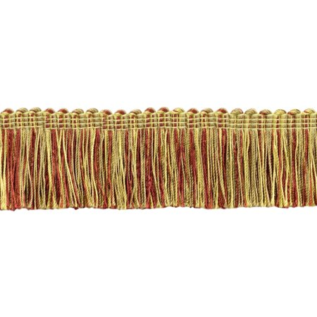 1.5' Brush Fringe (5 Yard Value Pack|Beachwood Gold, Camel Gold, Dark Rust Duke Collection Brush Fringe Trim|2