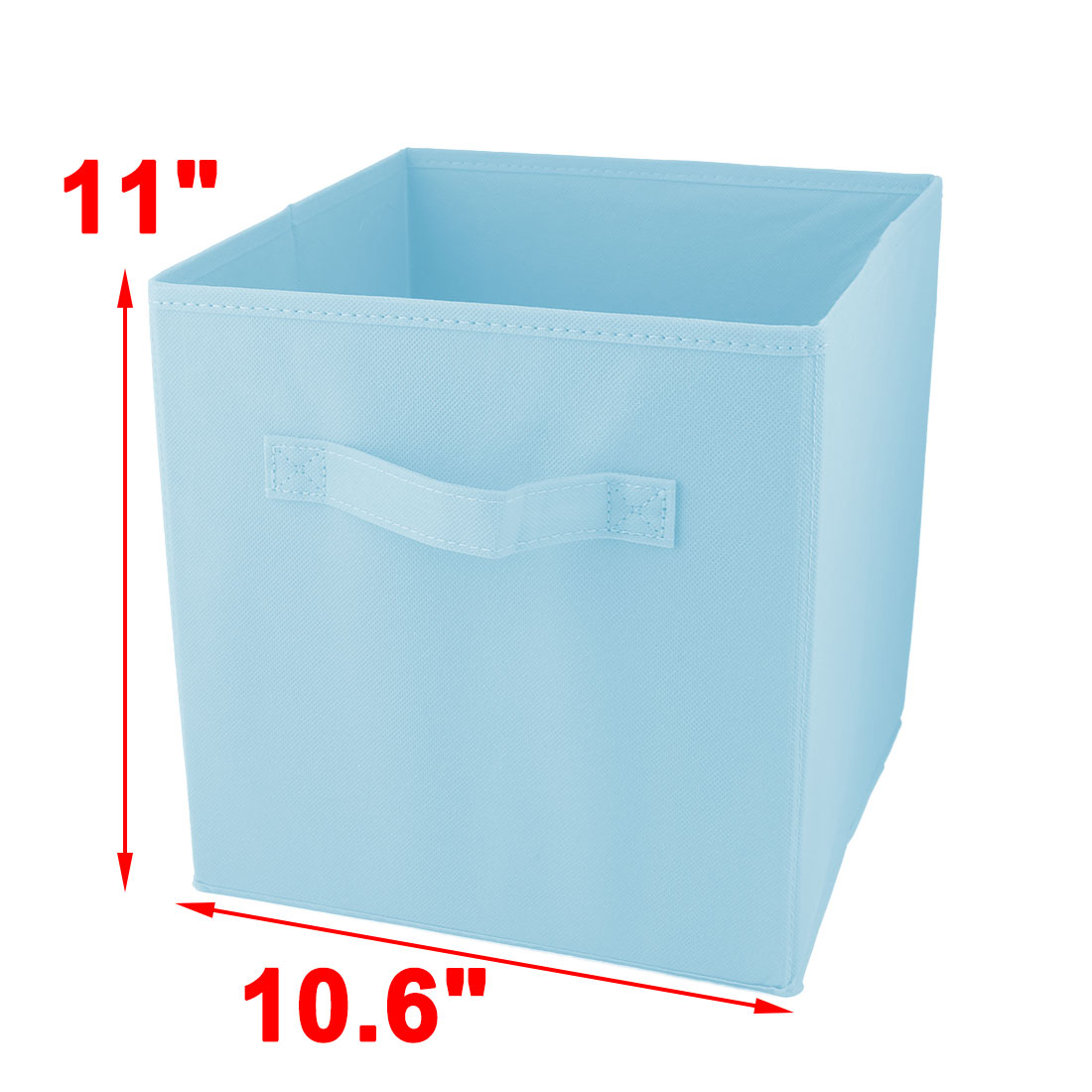 Apartment Non-woven Fabric Foldable Books Cosmetics Holder Storage Box Sky Blue - image 4 of 5