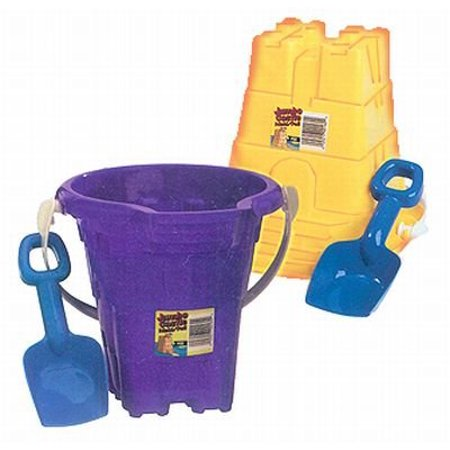 American Plastic Toy Jumbo Castle Mold Pail & Shovel Toy (Plastic Toy Shovel)
