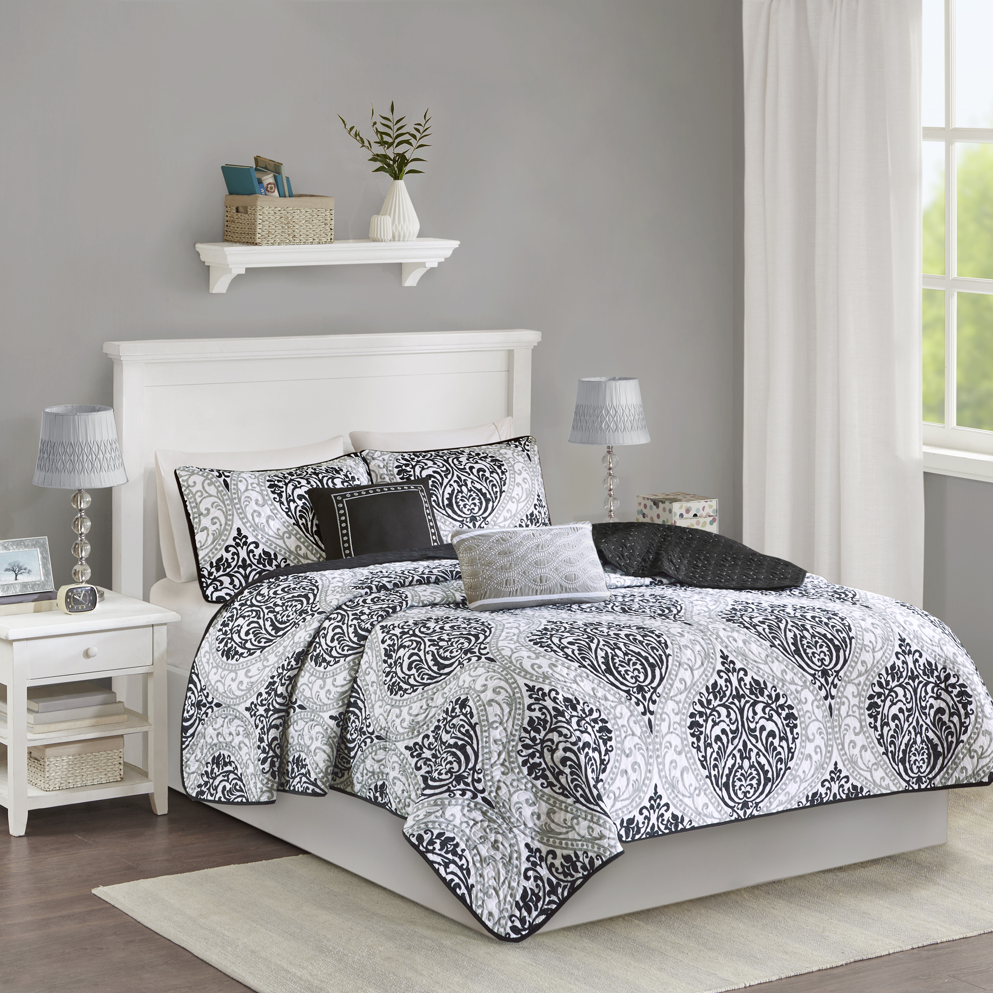 Home Essence Apartment Chelsea Ultra Soft Quilted Coverlet Set