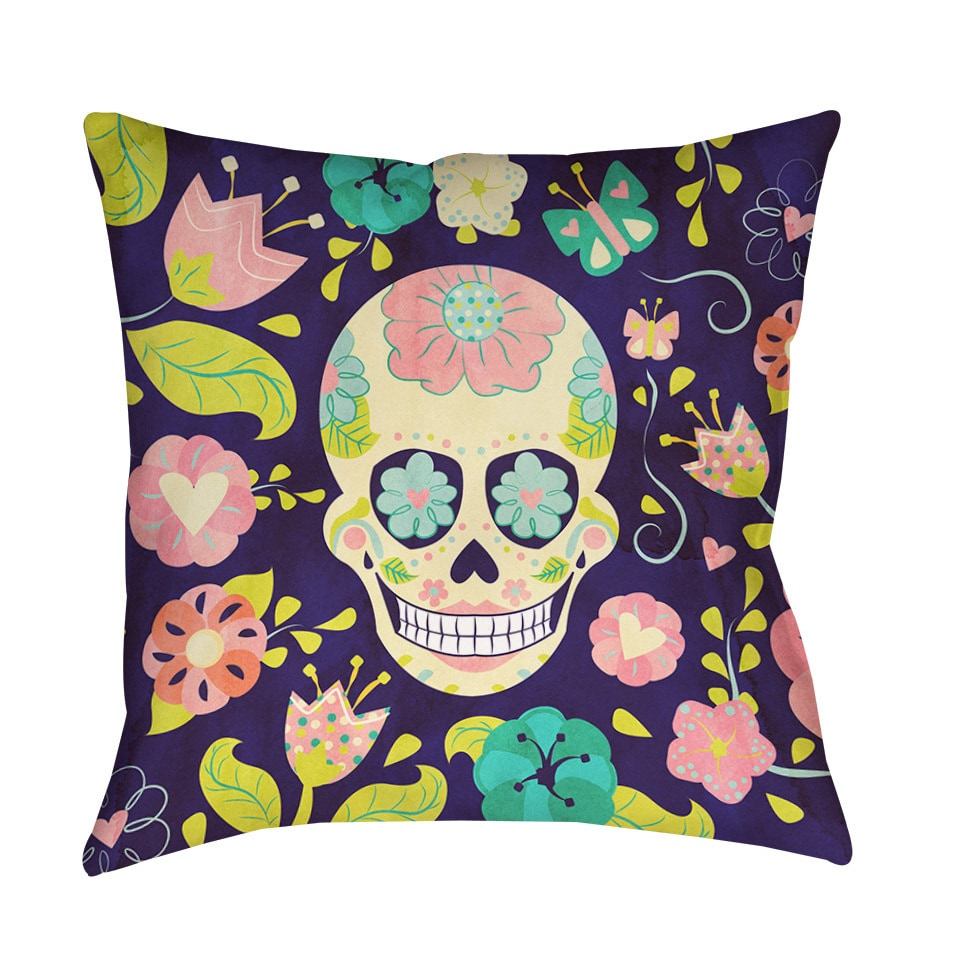 Thumbprintz Sugar Skull Indoor/ Outdoor Pillow