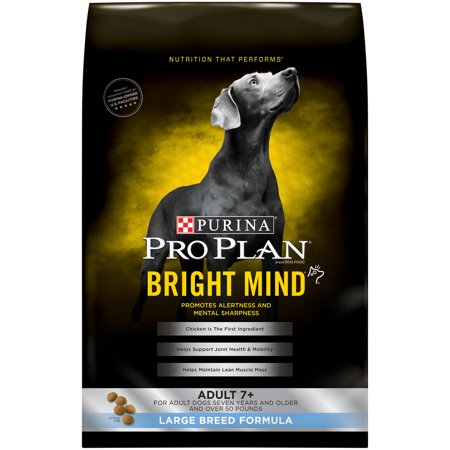 Purina Pro Plan BRIGHT MIND Large Breed Formula Adult 7+ Dry Dog Food - 30 lb. (Top Dog Food Brands For Large Breeds)