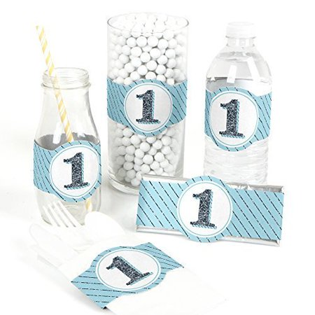 Fun to be One - 1st Birthday Boy - DIY Party Wrapper Favors - Set of 15