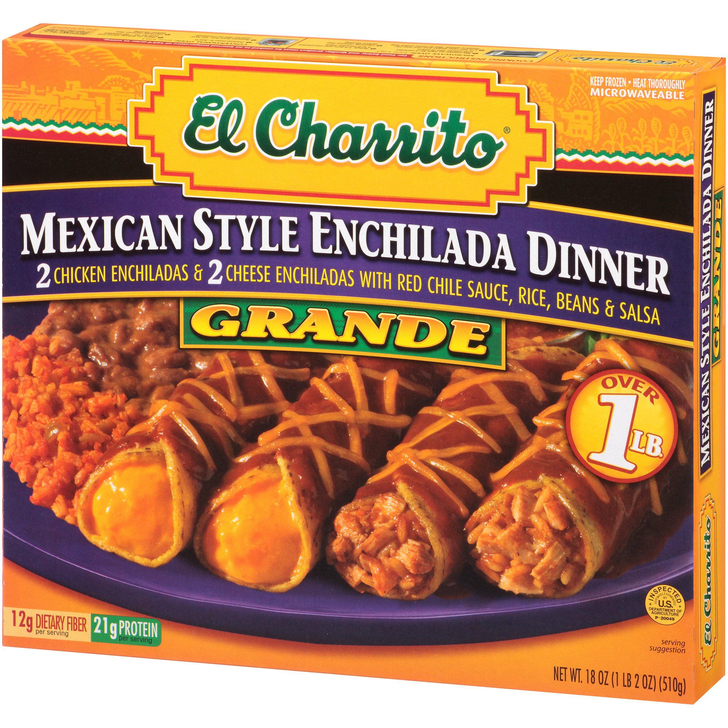 El Charrito® Grande Mexican Style Enchilada Dinner 18 Oz. Box   Walmart.com