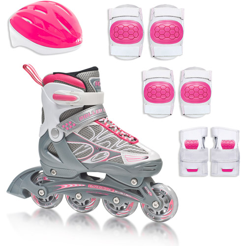 Girls' ZX-9 Inline Skates and Protective Gear Pack