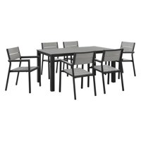 Modway Maine 7-Piece Outdoor Patio Dining Set, Multiple Colors