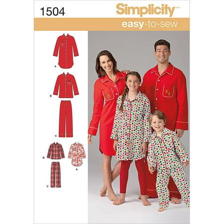Simplicity Adults' Size XS-XL Sleepwear Pattern, 1 Each