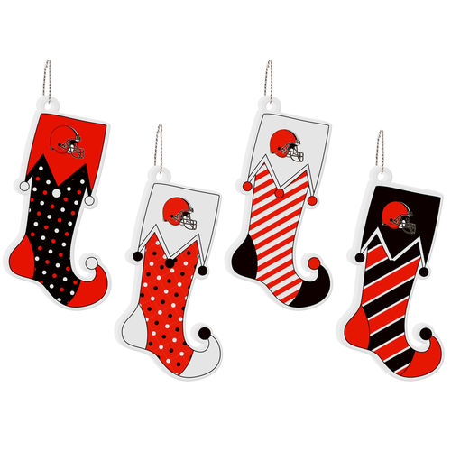 Cleveland Browns 4-Pack Stocking Ornament Set