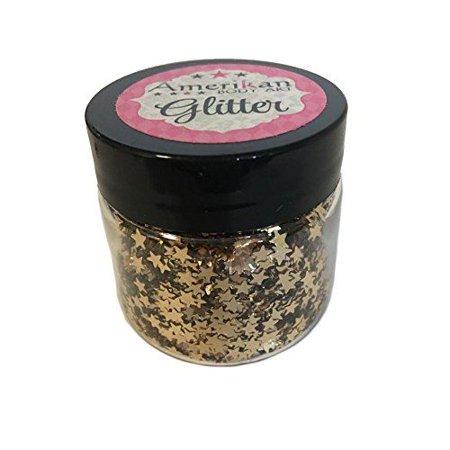 Amerikan Body Art Glitter Stars - Champagne Gold (1 oz)